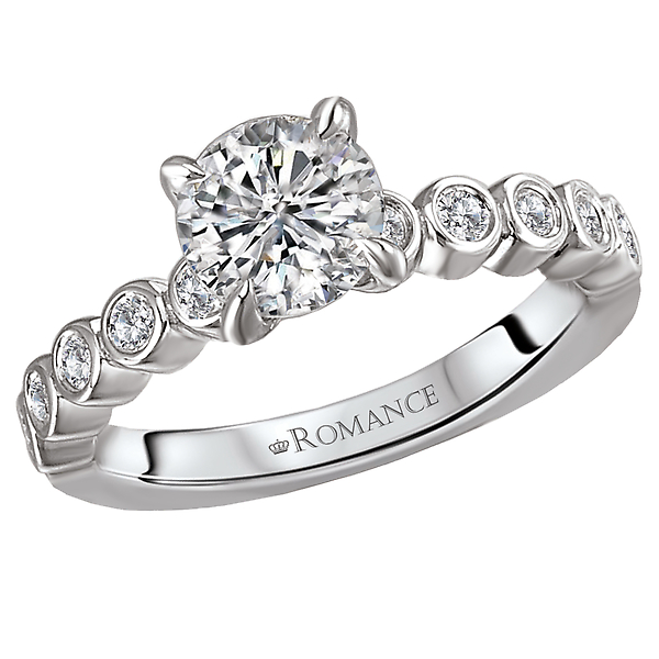 Peg Head Semi-Mount Diamond Ring by Romance Diamond