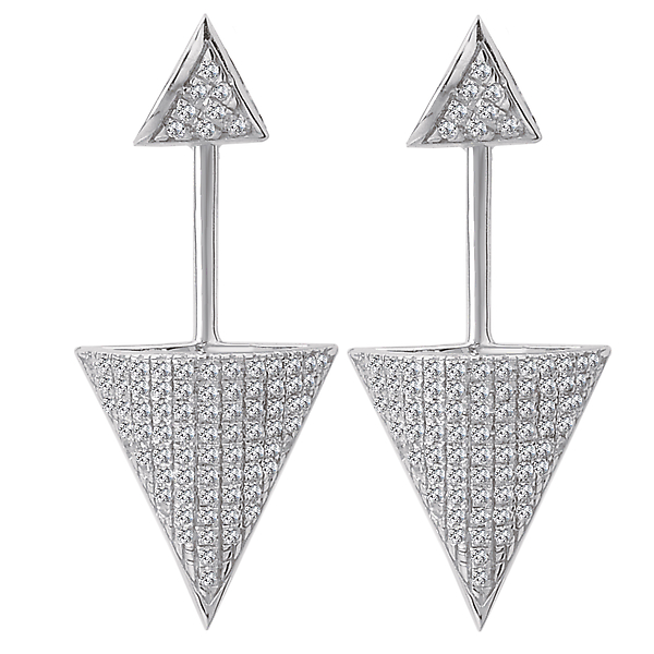 Dangle Diamond Earrings by Tesoro