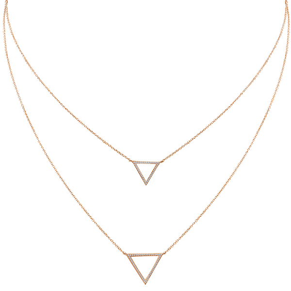Ladies Diamond Necklace by Tesoro