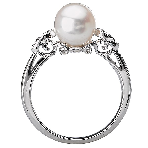 Rings - Ladies Fashion Pearl Ring - image #2