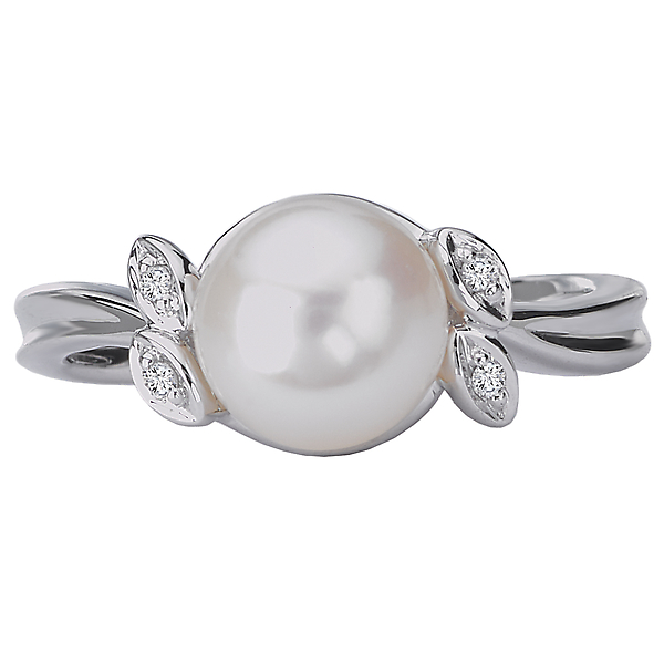 Rings - Ladies Fashion Pearl Ring - image #4