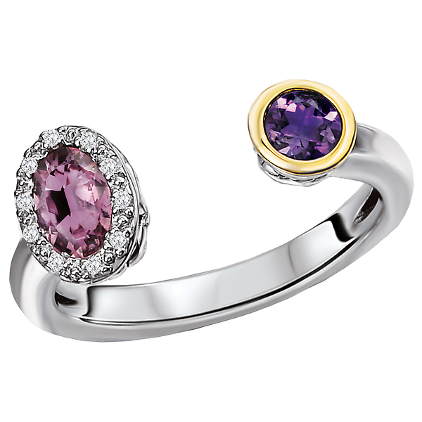 Rings - Ladies Gemstone and Diamond Ring