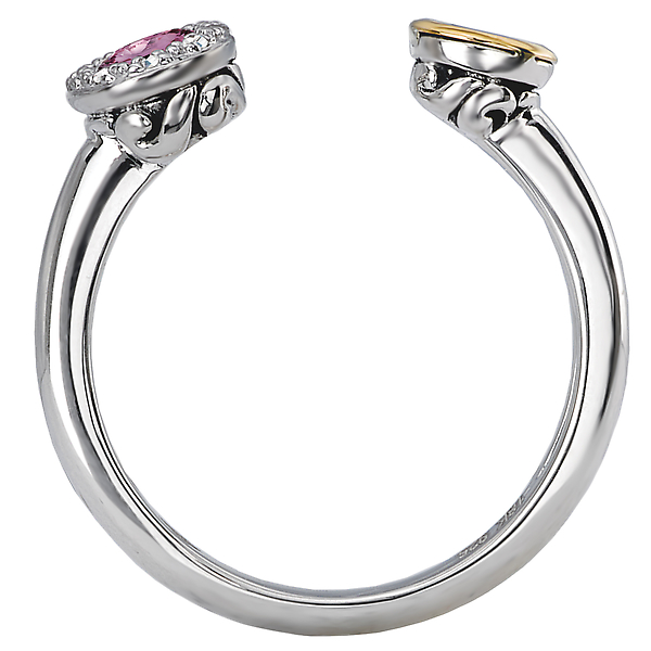 Rings - Ladies Gemstone and Diamond Ring - image #2