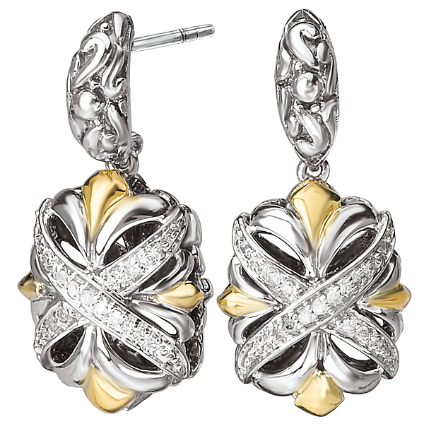 Ladies Fashion Diamond Earrings by Eleganza
