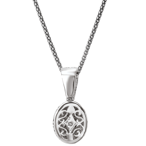 Pendants - Ladies Fashion Diamond Necklace - image #4