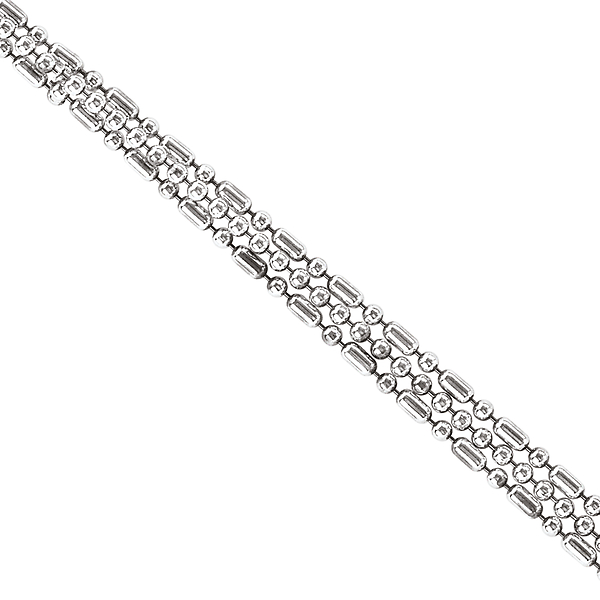 Necklaces - Sterling Silver Triple Chain - image #2