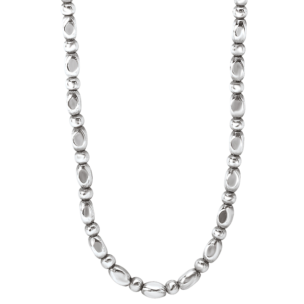 Sterling Silver Bead Chain by Eleganza