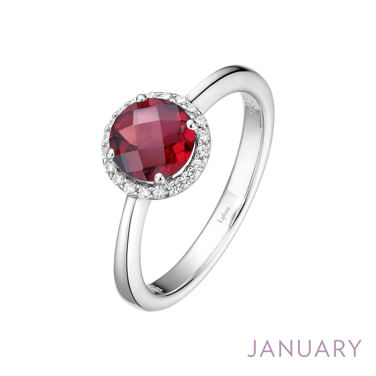 Birthstone January Platinum Bonded Ring by Lafonn