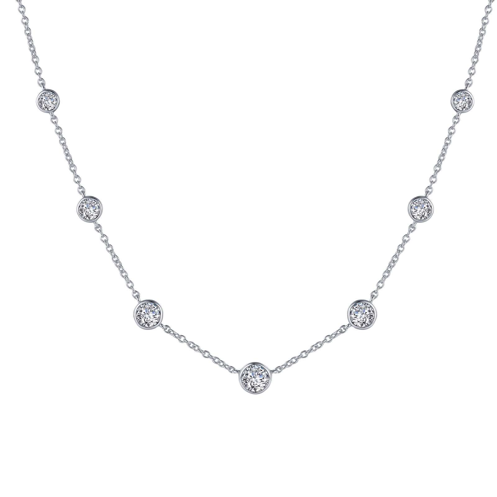 7 Symbols Of Joy Simulated Diamond Platinum Bonded Necklace by Lafonn