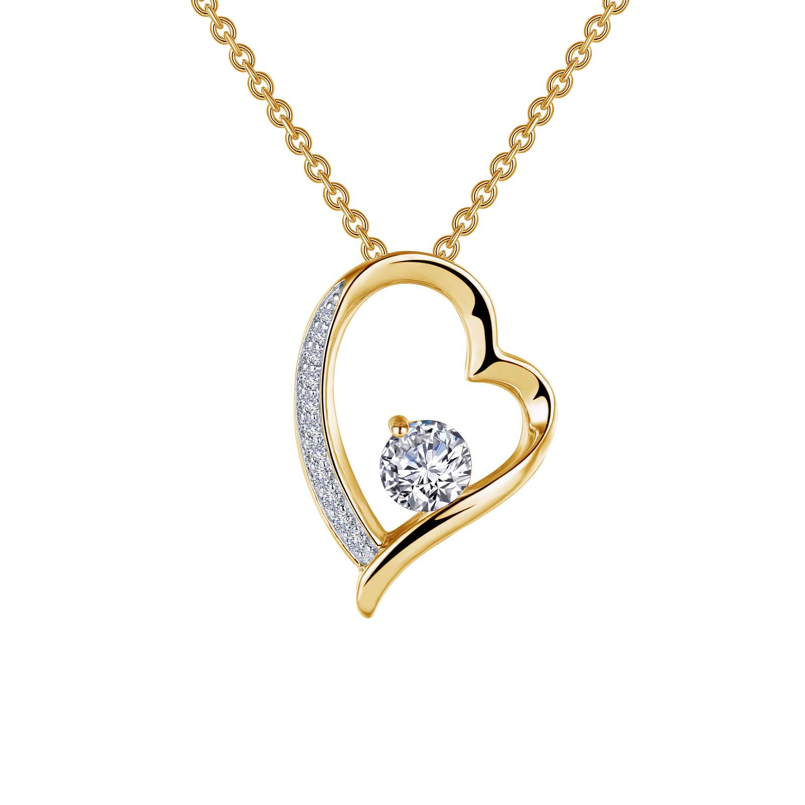 Classic Simulated Diamond 2 Tone Necklace by Lafonn Jewelry
