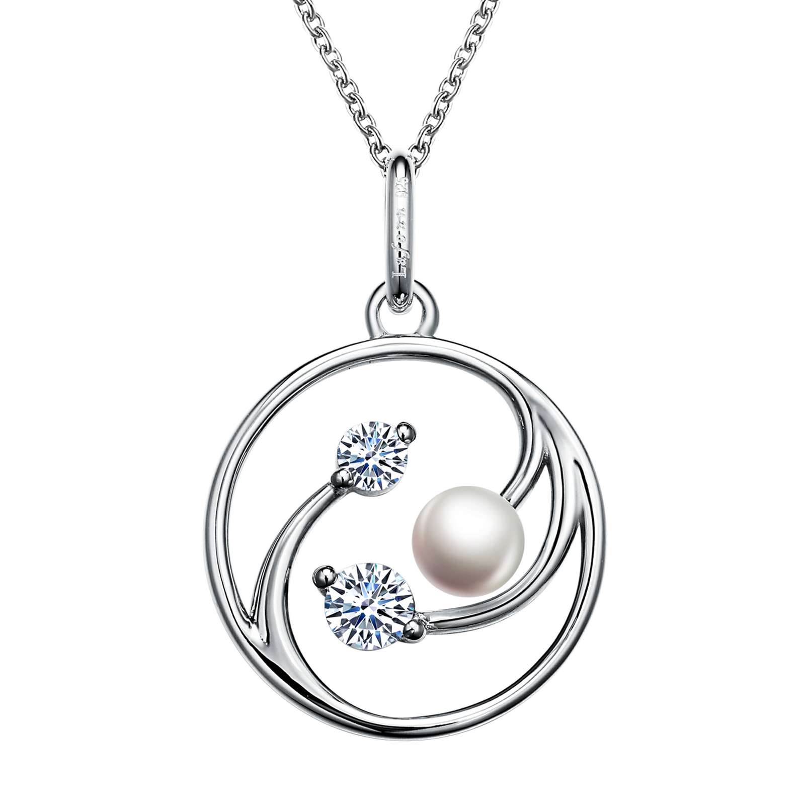 Classic Freshwater Pearl Platinum Necklace by Lafonn Jewelry