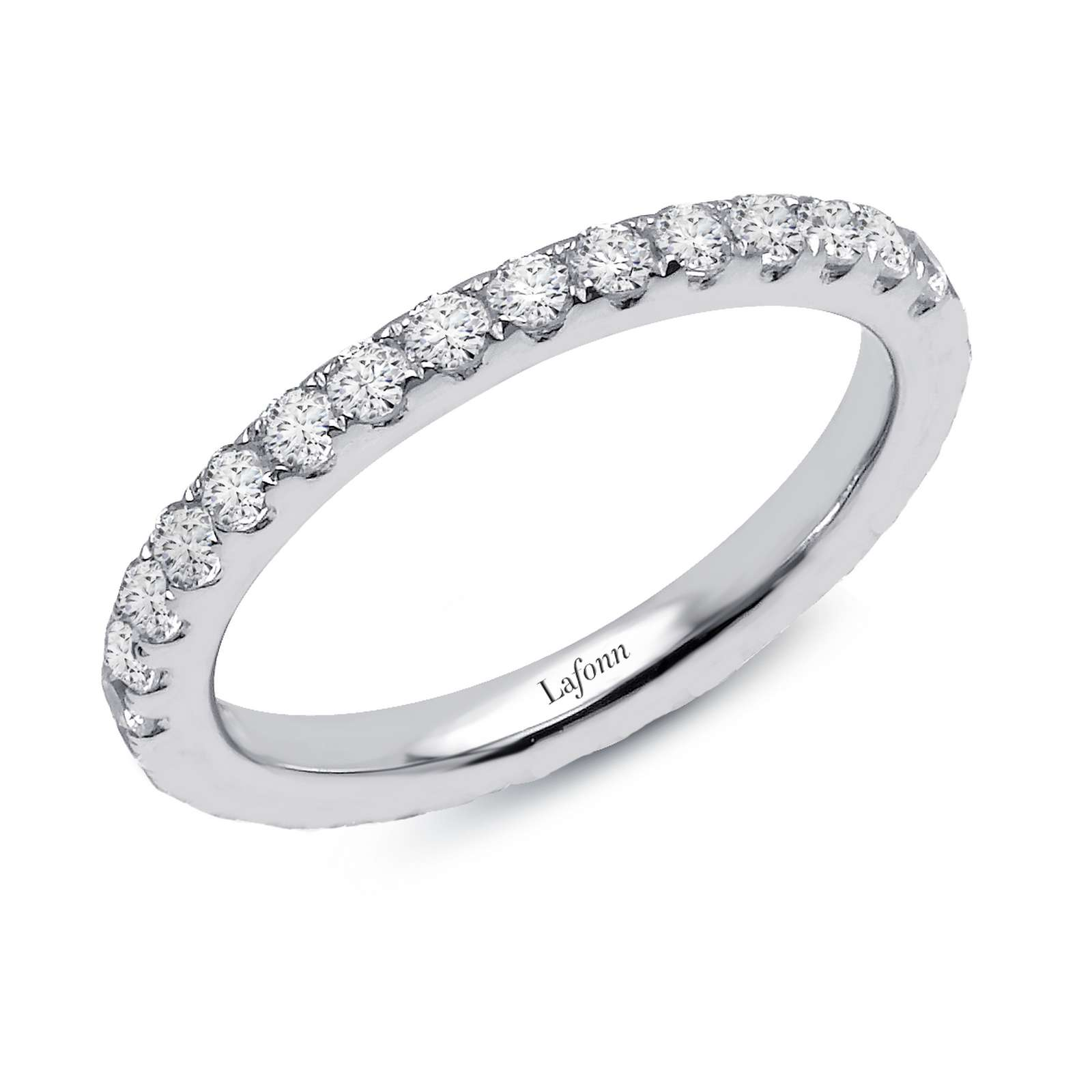 Stackables Platinum Ring by Lafonn