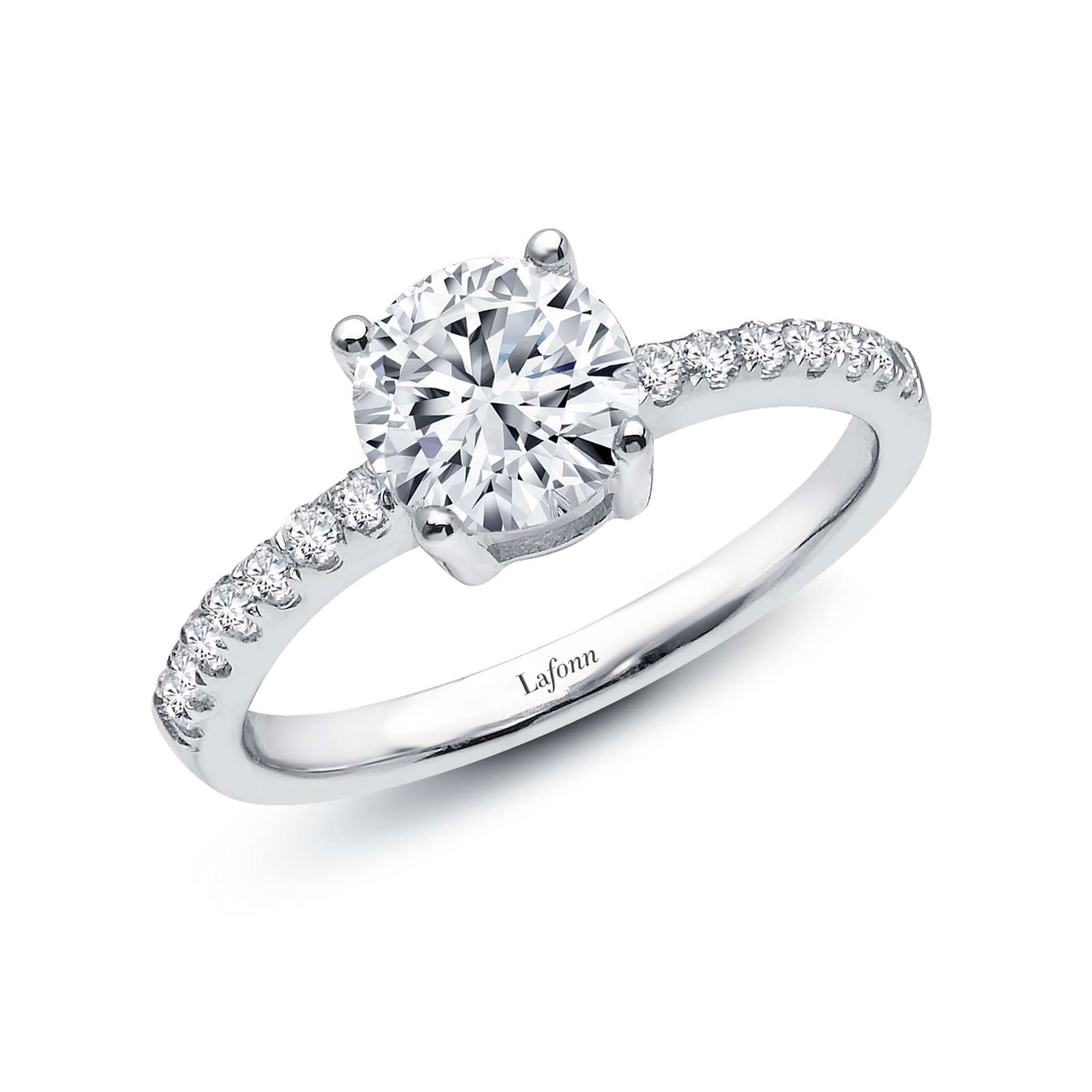 Classic Platinum Ring by Lafonn