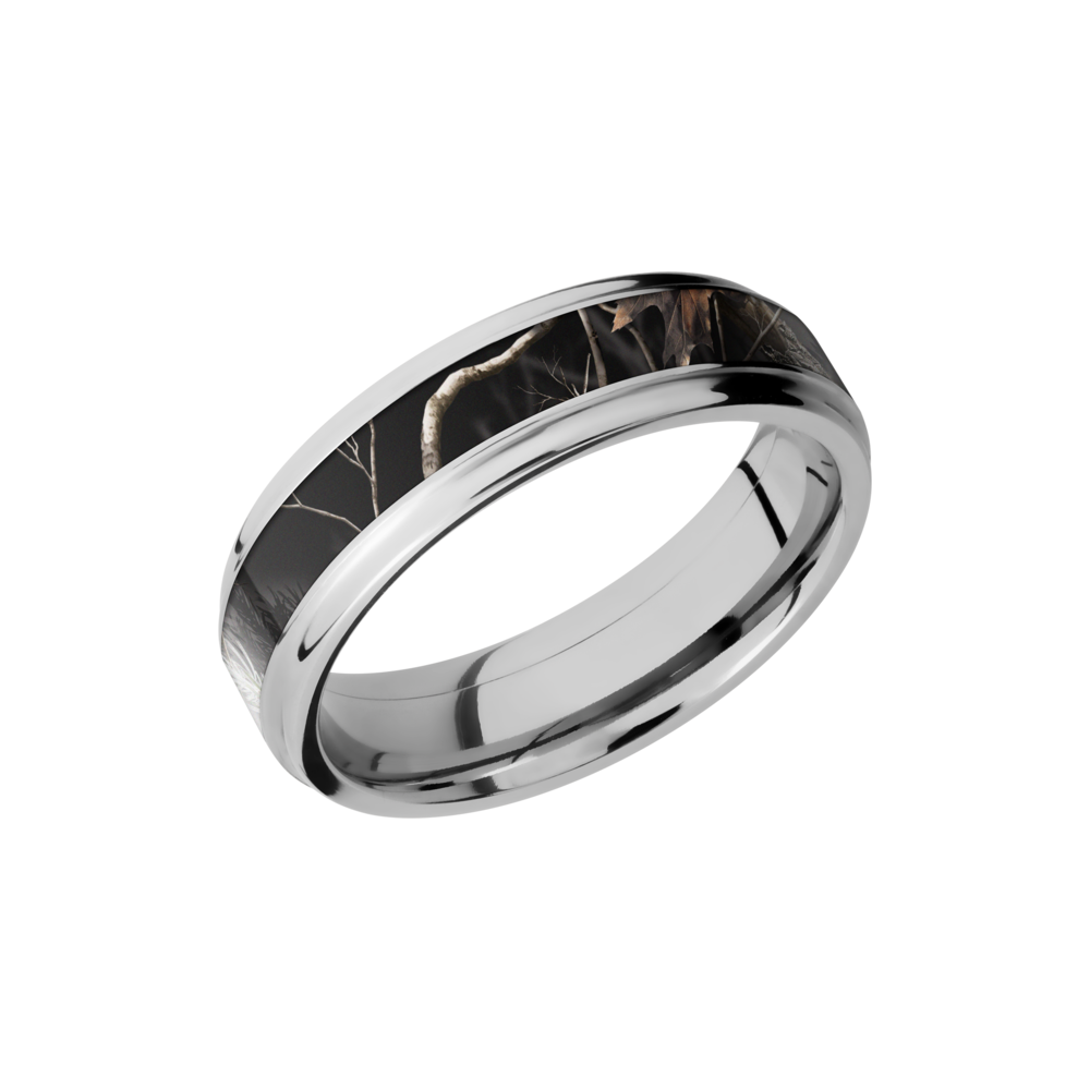 Camo & Cobalt Chrome Wedding Band by Lashbrook Designs