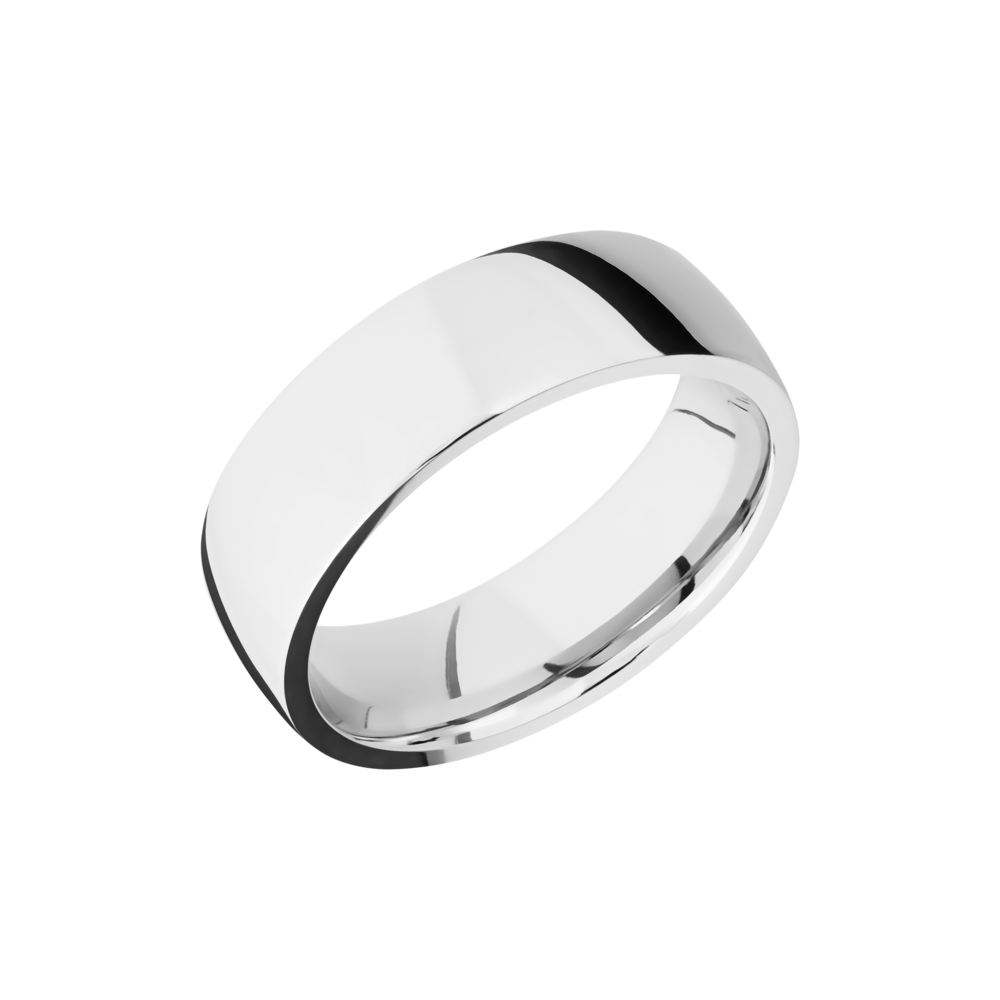 Cobalt Chrome Wedding Band - Cobalt chrome 7mm low-domed band