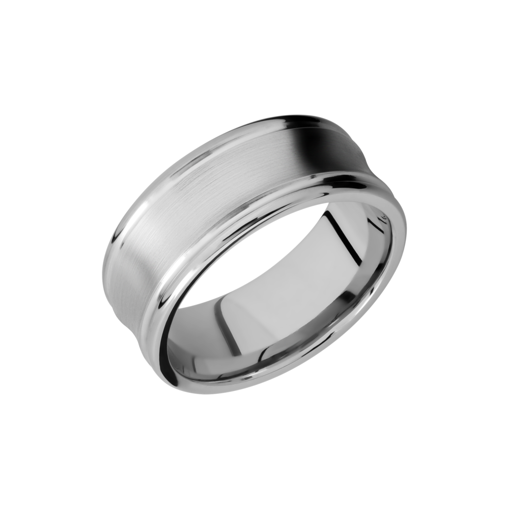 Cobalt Chrome Wedding Band - Cobalt Chrome 9mm concave band with rounded edges