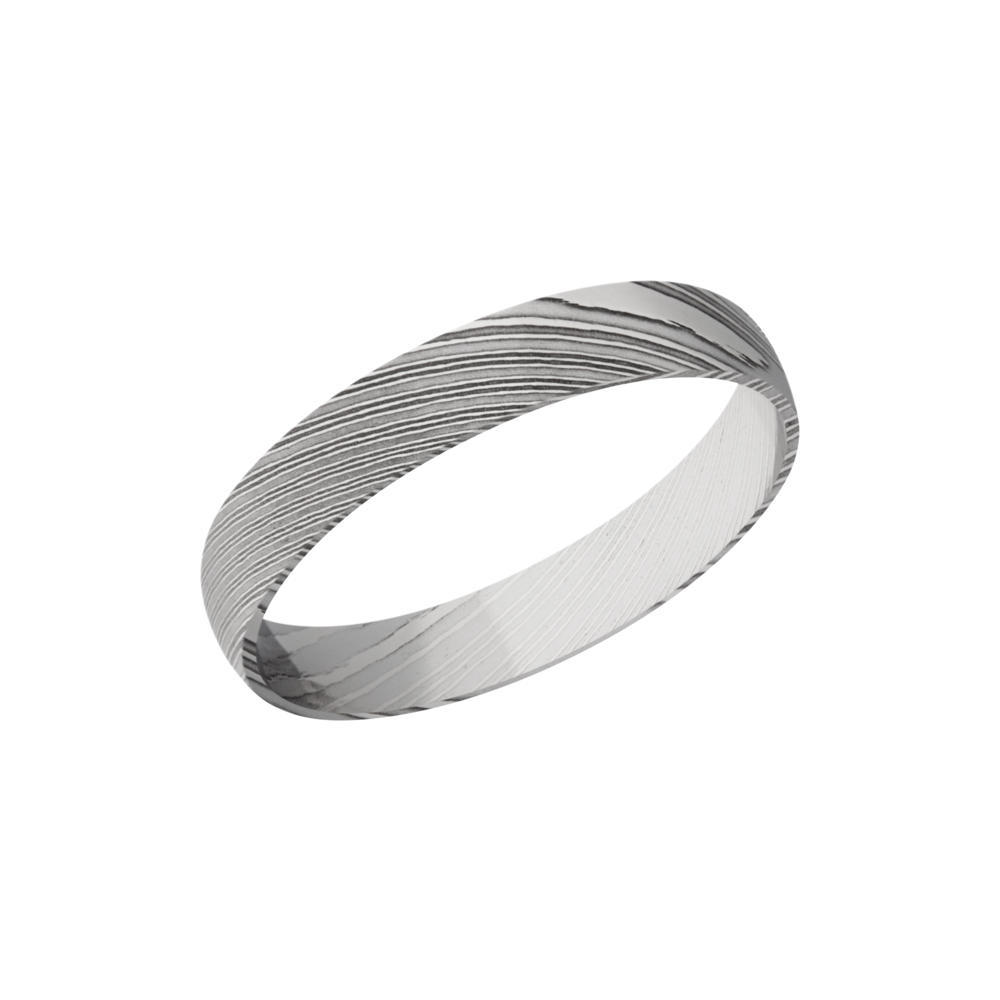 Handmade 4mm Damascus Steel Domed Band by Lashbrook Designs