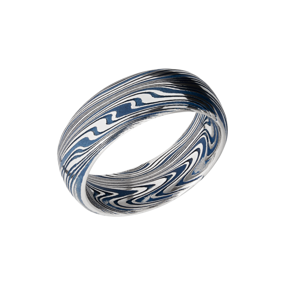 Wedding Bands - Damascus Steel & Cerakote Wedding Band