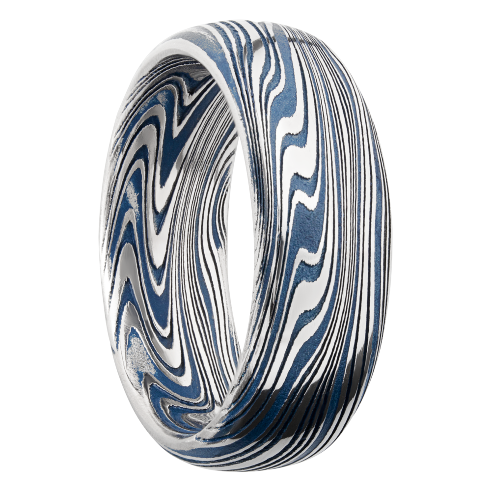 Wedding Bands - Damascus Steel & Cerakote Wedding Band - image #2