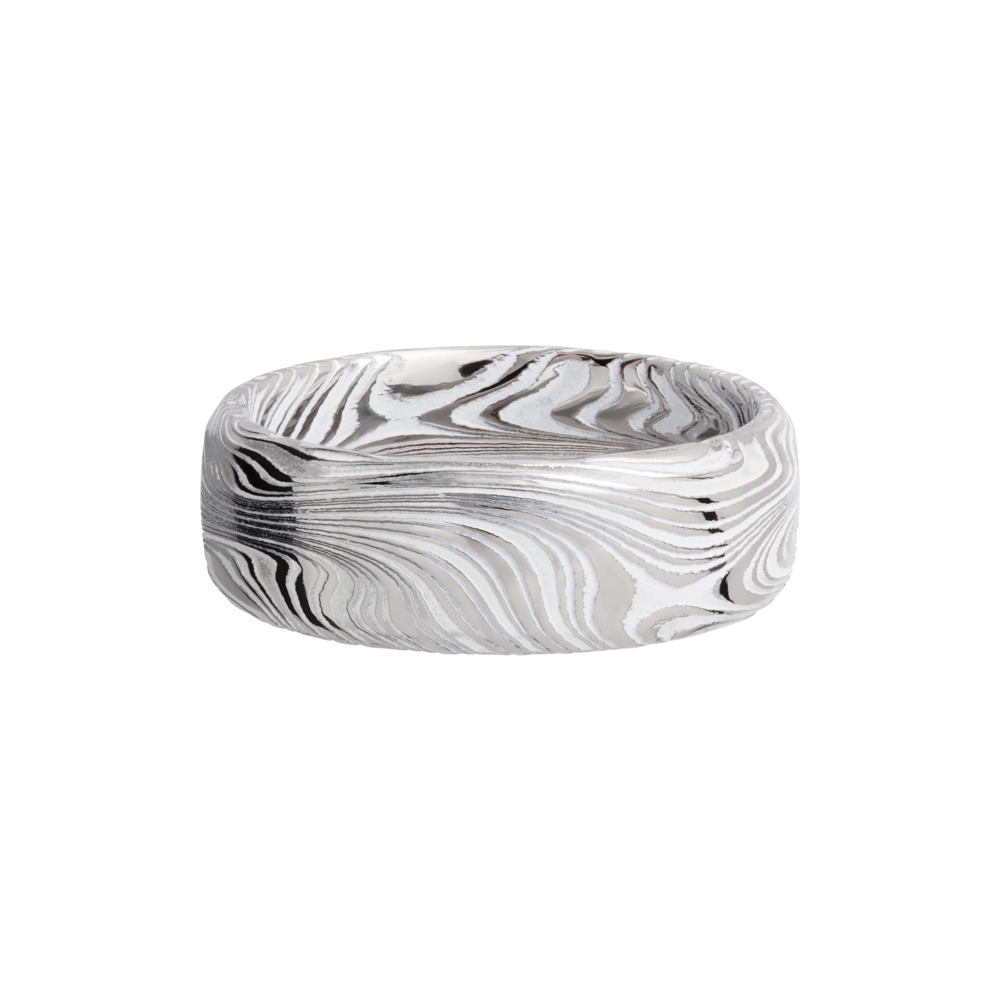 Wedding Bands - Damascus Steel & Cerakote Wedding Band - image #3