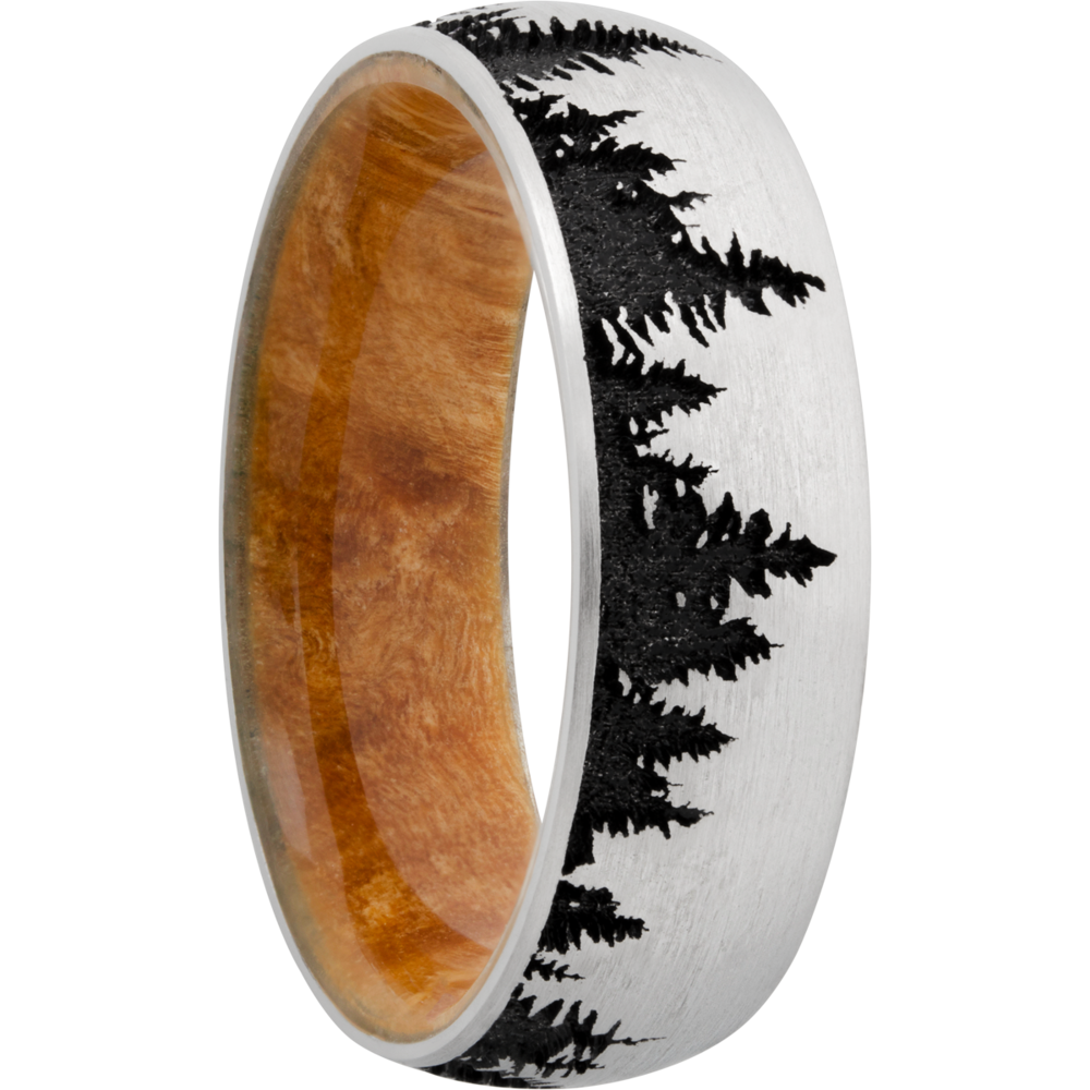 Wedding Bands - Hardwood & Titanium Wedding Band - image 2
