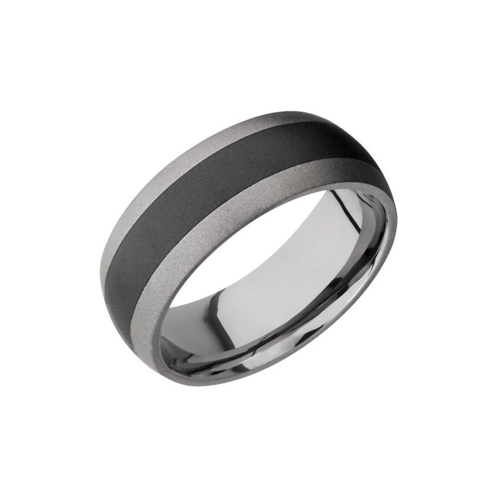 Tungsten Ceramic Wedding Band - Ceramic and Tungsten Band