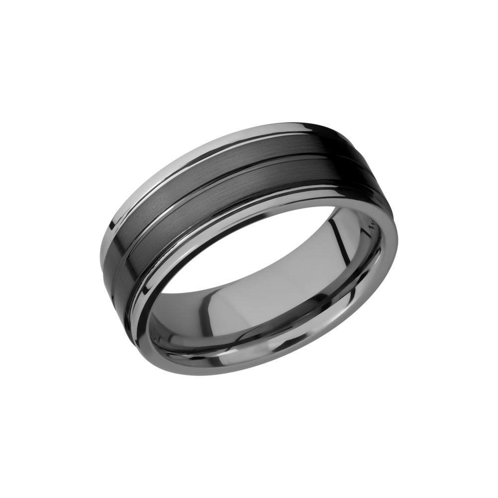 Tungsten Ceramic Wedding Band by Lashbrook Designs
