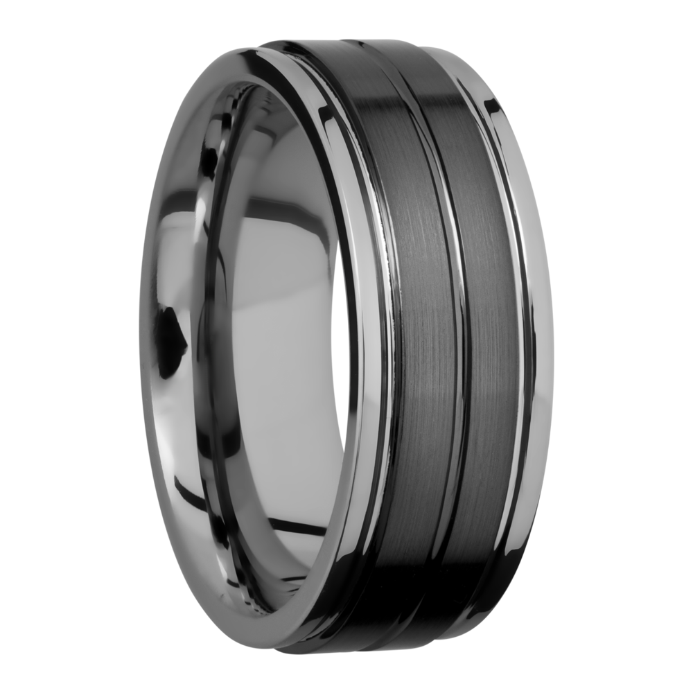 Wedding Bands - Tungsten Ceramic Wedding Band - image #2