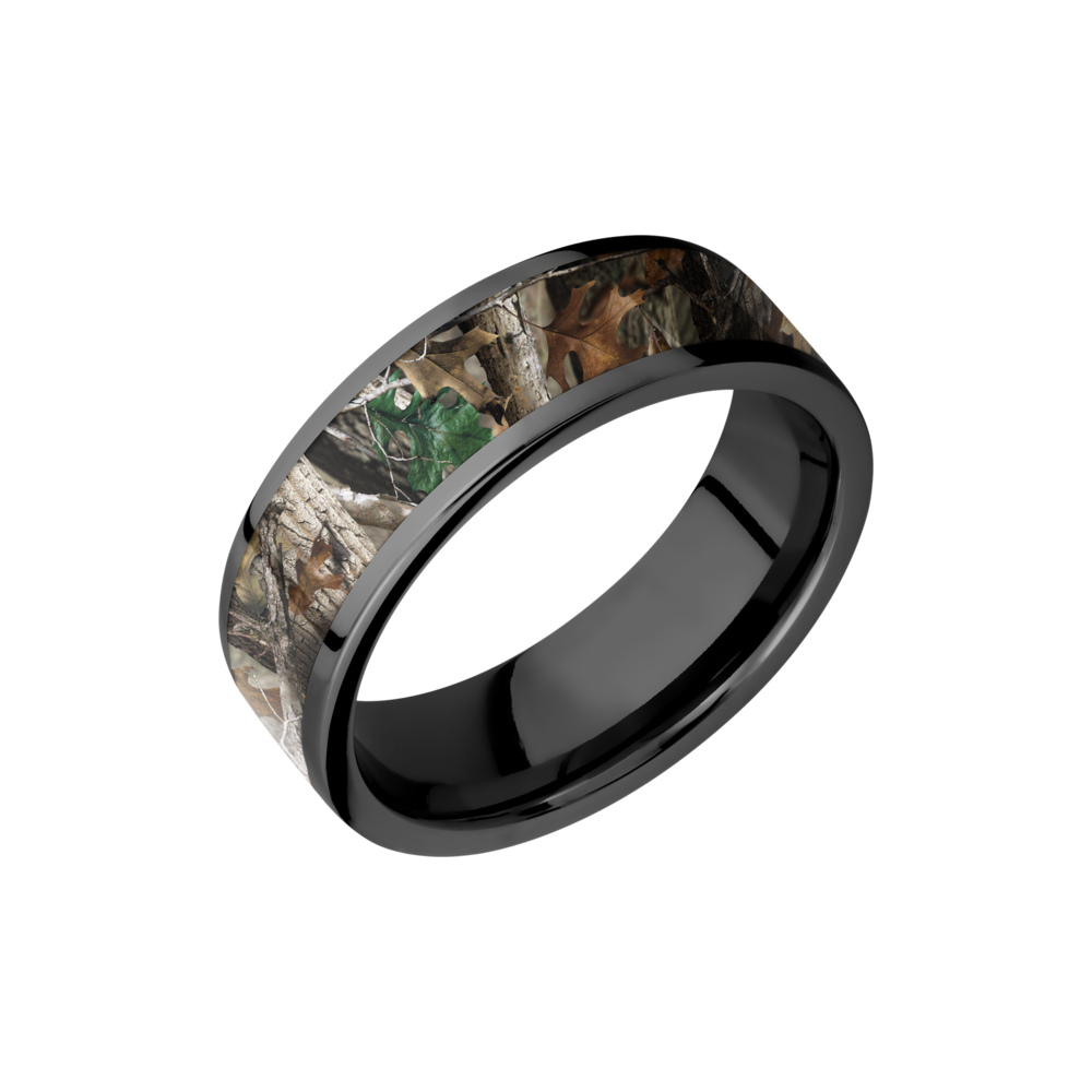 Camo & Zirconium Wedding Band by Lashbrook Designs