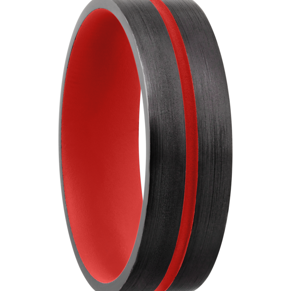 Wedding Bands - Zirconium & Cerakote Wedding Band - image #2