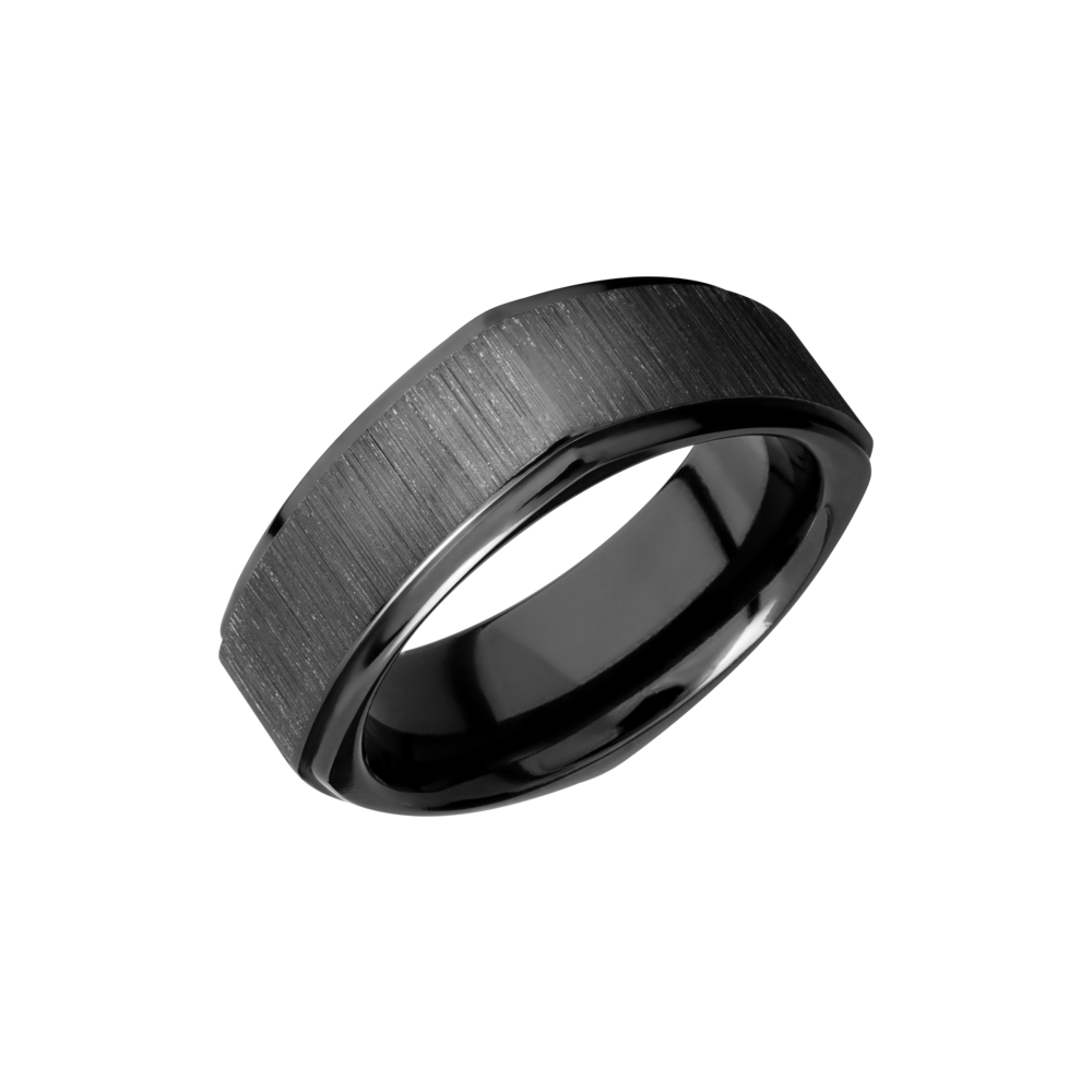 Zirconium Wedding Band - Zirconium 8mm flat square band