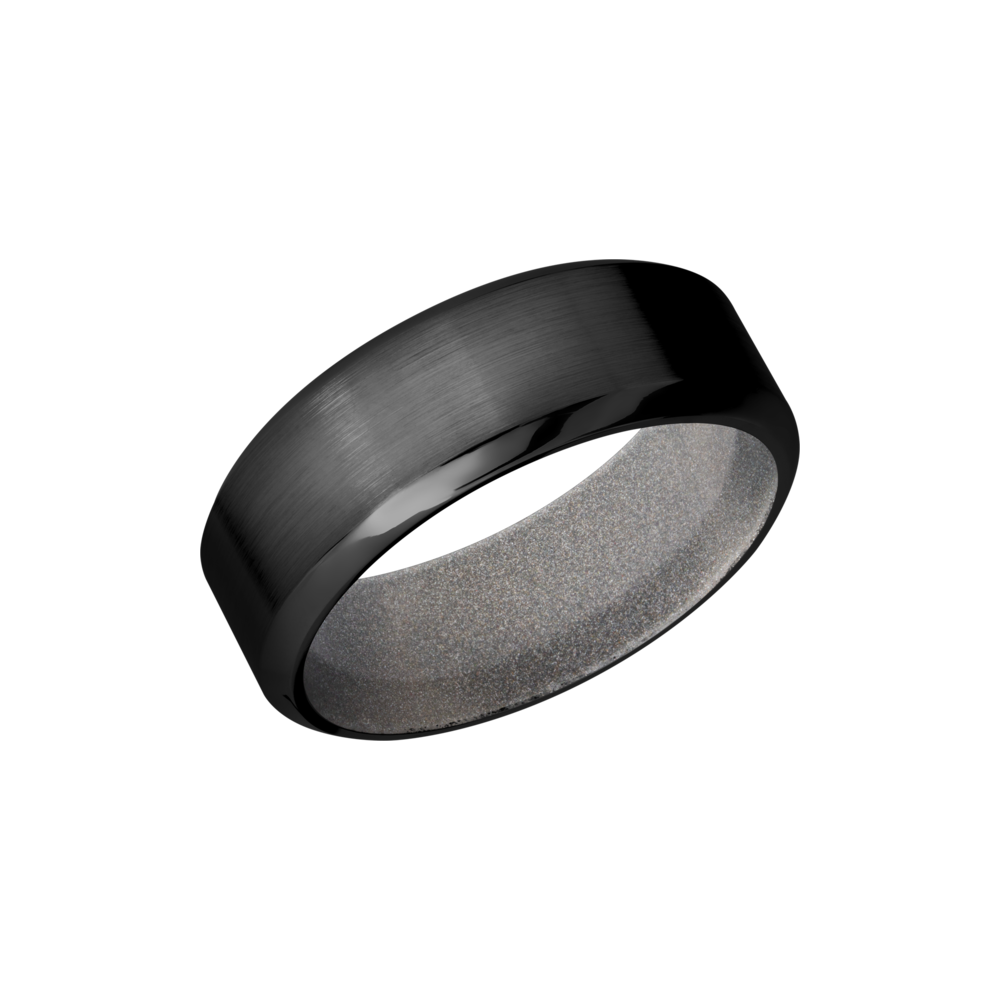 You can never go wrong with a sleek black ring whether its a wedding band or just a causal fashion ring. Shop Manly Zirconium