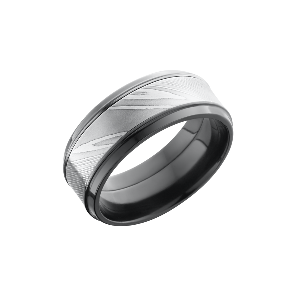 Zirconium 9mm Band Zpf9b15 S Damascus Wedding Bands From Jewelry Design Studio Jensen Beach Fl
