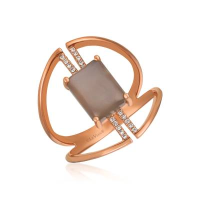 Le Vian® Ring featuring 1  5/8 cts. Moonstone, 1/20 cts. Vanilla Diamonds® set in 14K Strawberry Gold®