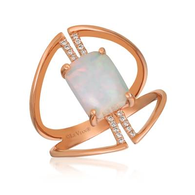 Le Vian® Ring featuring 1 cts. Neopolitan Opal™, 1/20 cts. Vanilla Diamonds® set in 14K Strawberry Gold®