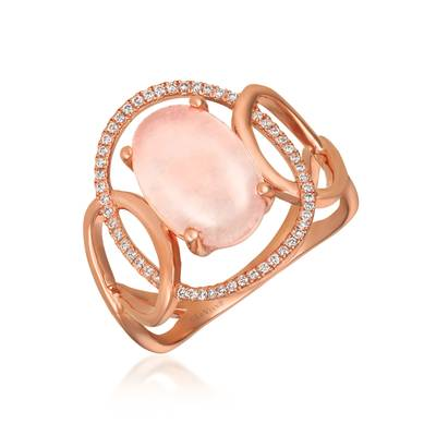 Le Vian® Ring featuring 2  3/4 cts. Pink Orchid Quartz™, 1/6 cts. Vanilla Diamonds® set in 14K Strawberry Gold®