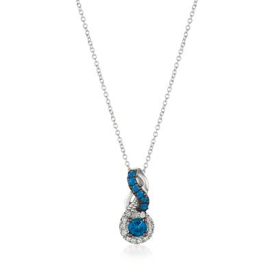 Le Vian® Pendant featuring 1/5 cts. Cornflower Ceylon Sapphire™, 1/20 cts. Blueberry Sapphire™, 1/20 cts. Vanilla Diamonds® set in 14K Vanilla Gold®