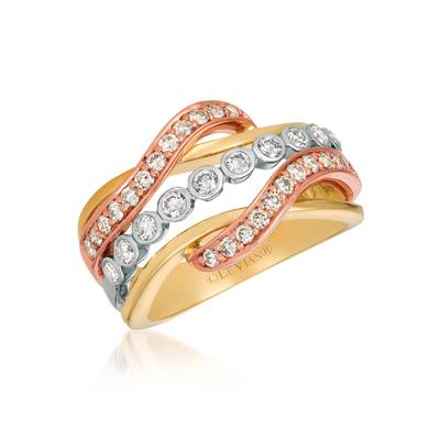 14K Tri Color Gold Ring by Le Vian