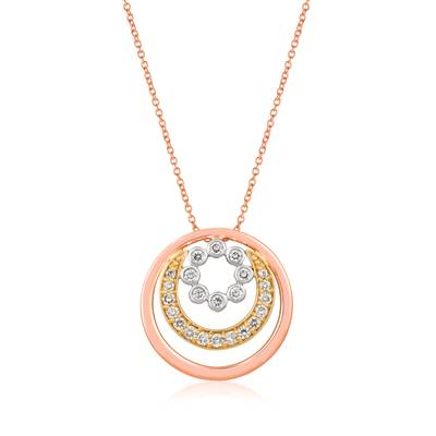 14K Tri Color Gold Pendant by Le Vian