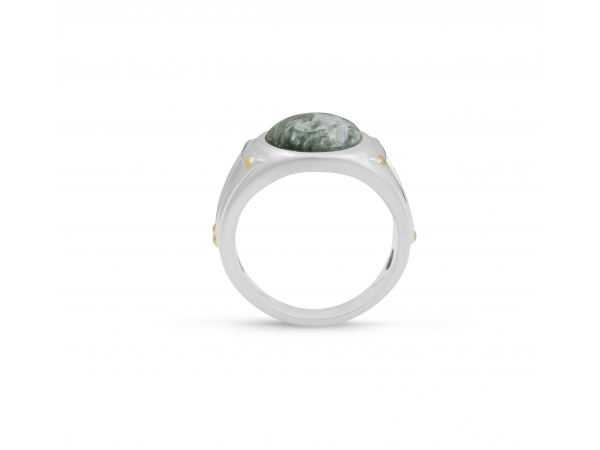 LuvMyJewelry Seraphinite Iconic Stone Ring by LuvMyJewelry