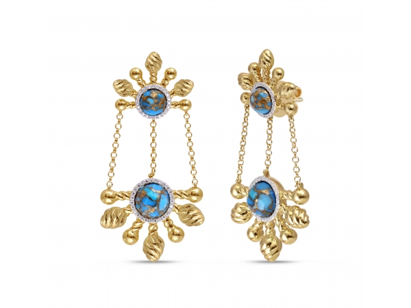 LuvMyJewelry Sunny Cascade Earrings by LuvMyJewelry