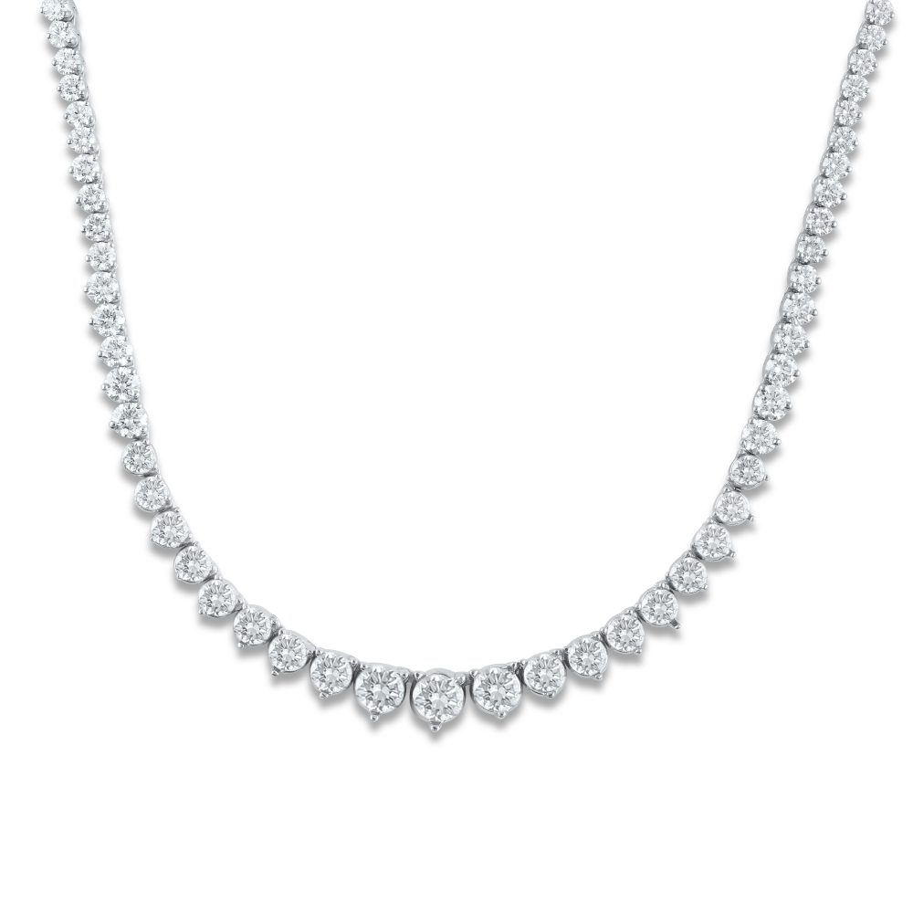 9.50cttw Necklace in 14K White Gold by Evolv