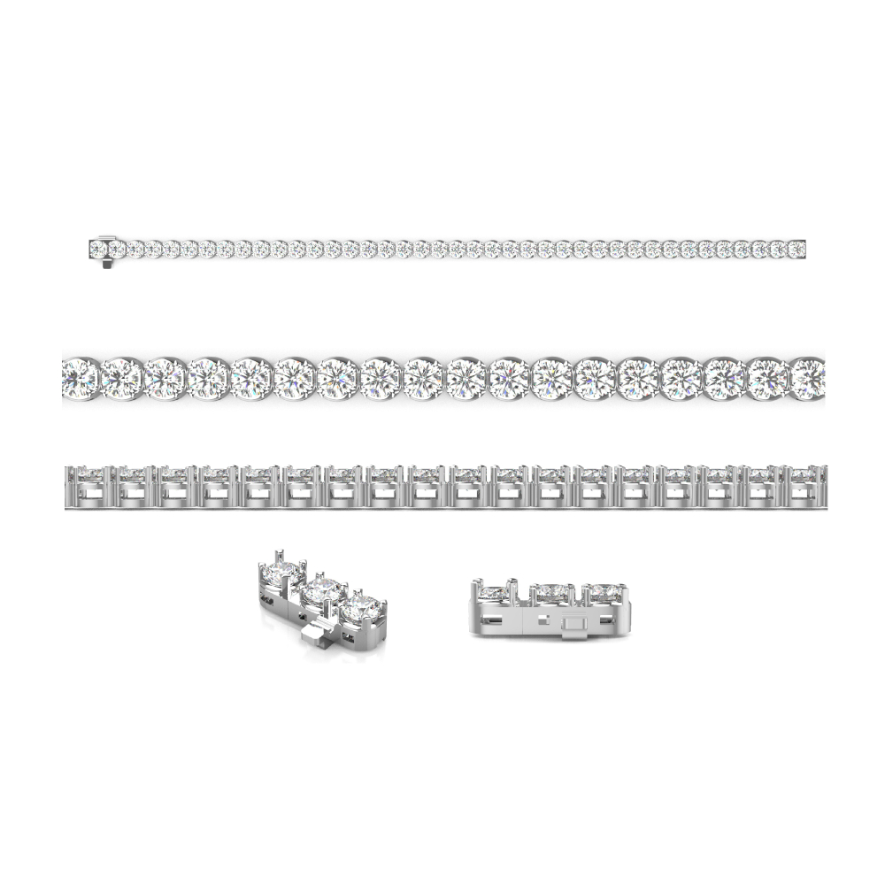 2.00cttw Tennis Bracelet in 14K White Gold by Evolv