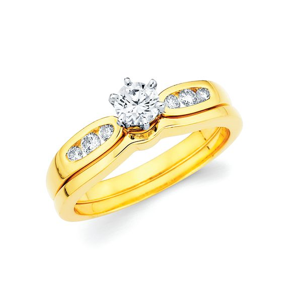 14k Yellow Gold Engagement Set by Celebration