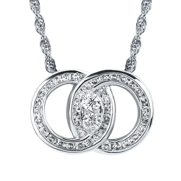 14K White Gold Pendant DMS2/PCHV50-4WC | Pendants from Lake Oswego