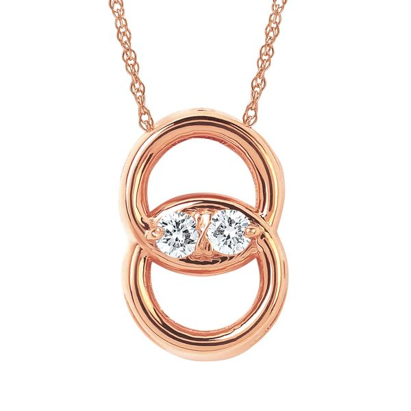 14K Rose Gold Pendant by Diamond Marriage Symbol