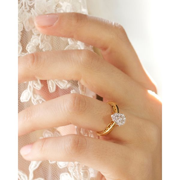 Bridal Sets - 14k Yellow Gold Engagement Set - image #3