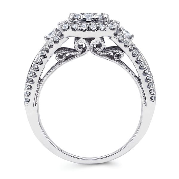 Bridal Sets - 14k White Gold Engagement Set - image 2