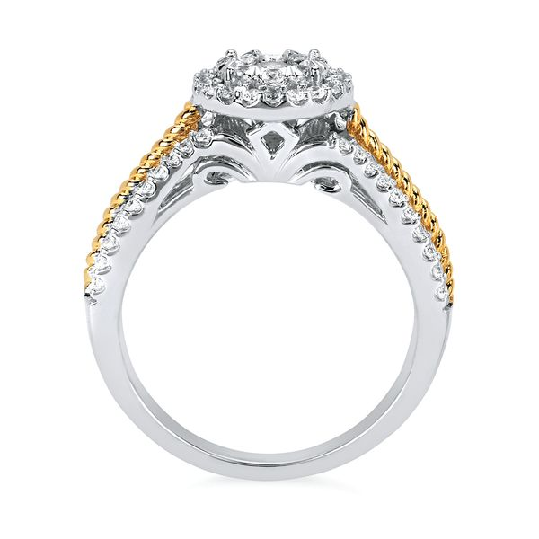 Engagement Rings - 14k White & Yellow Gold Engagement Ring - image #2
