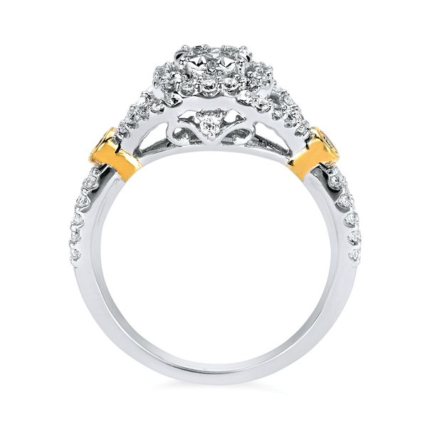 Rings - 14k White And Yellow Gold Ring - image 2